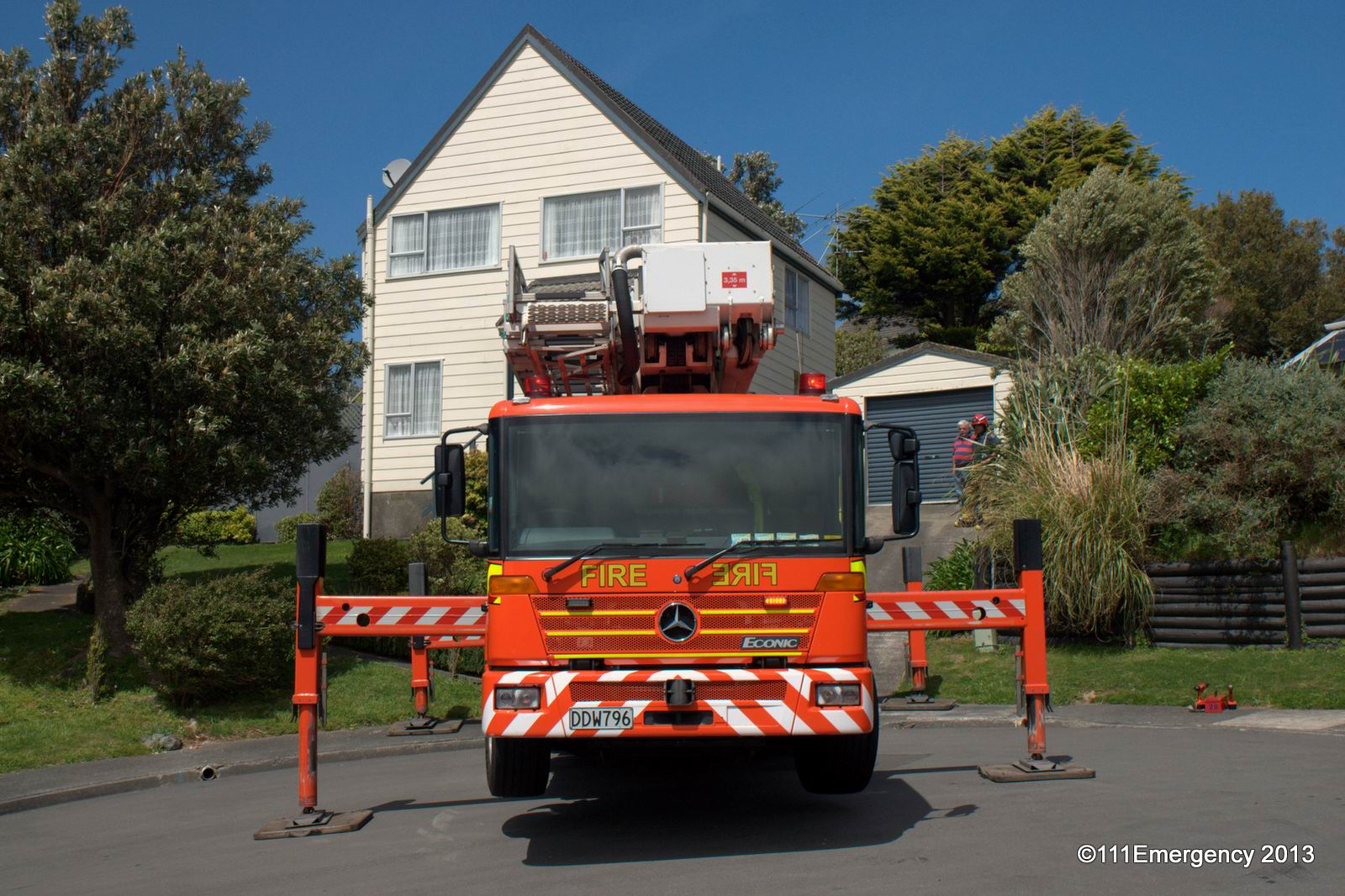 Firefighters In Action Loose Roofing Churton Park 20